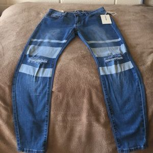 Jeans with cute stripe design